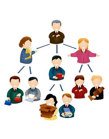 hierarchy: Organizational Chart Illustration