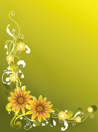 sunflowers: Abstract FLoral Background
