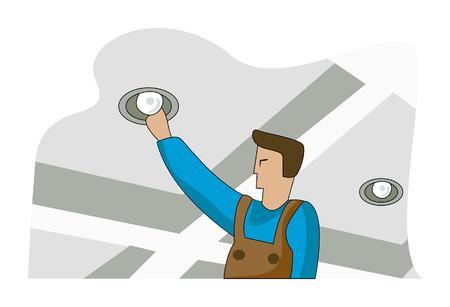 Changing Light Bulb Vector