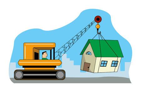 home moving: Cambiar de casa Vectores