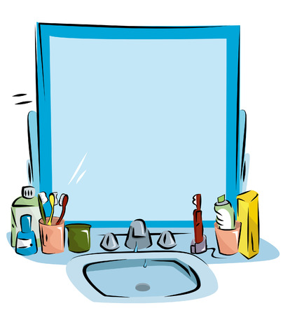 cleaning bathroom: Bathroom Sink Background