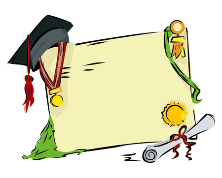 honours: Graduation Background Illustration