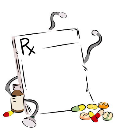 prescription: Prescription Background Illustration