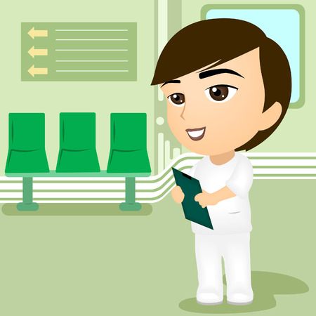 Illustration of a Male Nurse Vector