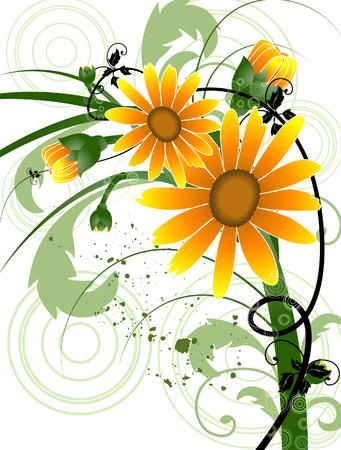 sunflowers: Floral Grunge Design (2 of 10)