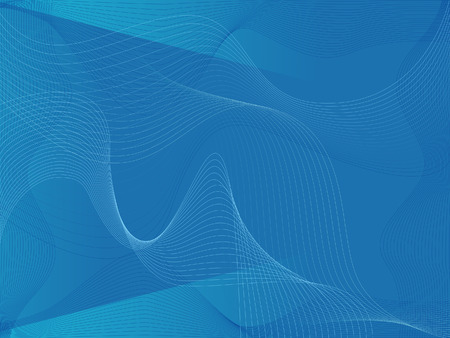Abstract Blue Wave for Background Vector