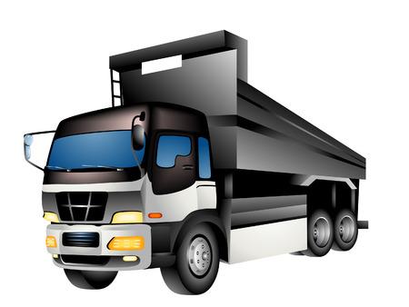 the dump truck: Cami�n volquete Ilustraci�n