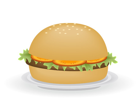 Burger Illustration Vector