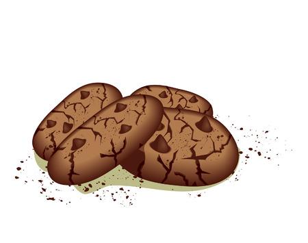 cookie chocolat: Biscuits aux grains de chocolat