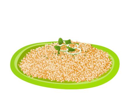 fritto: Illustrazione di riso di Java
