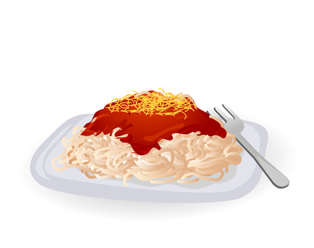 Spaghetti Illustration Vector