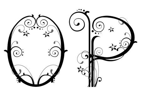 letter p: Vines Alphabet