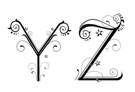 fonts vector: Vines Alphabet