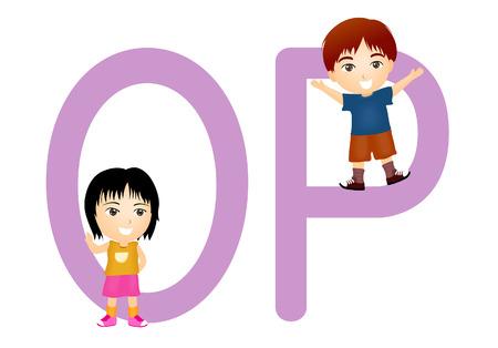 serie: Kinder Alphabet Serie Illustration
