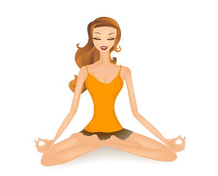 sitting meditation: Girl Meditating