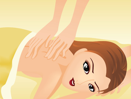 Illustration of a Spa Treatment Vector