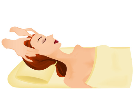 relaxation massage: Spa Illustration Illustration