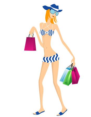 Summer Shopping Stock Vector - 3097620