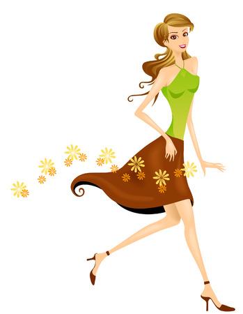 fragrances: Girl Walking