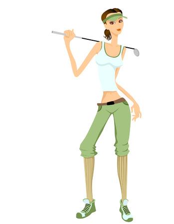 woman sport: Golf Girl