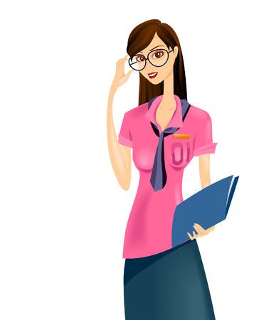 school girl uniform: Studentessa