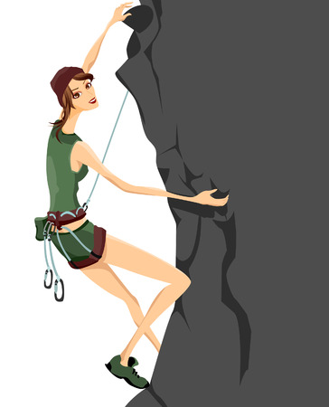 Rock Climbing Stock Vector - 3101634