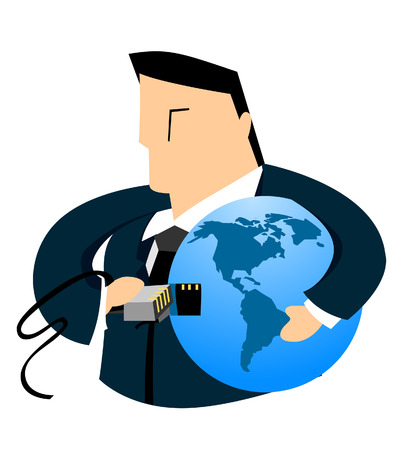 plugin: Business Concepts: Connection to the World Illustration