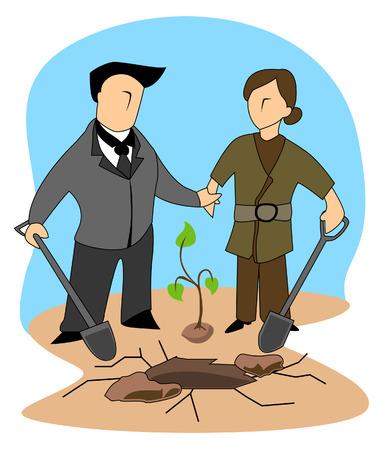 baum pflanzen: Business-Konzepte: Tree Planting