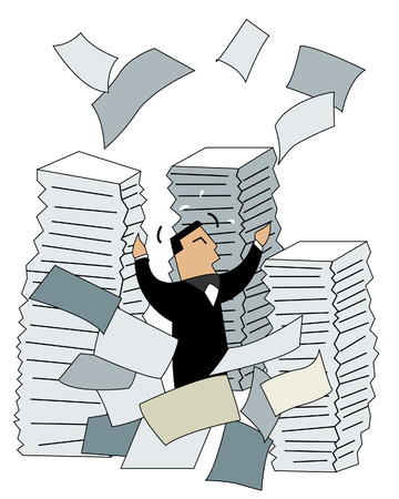 overwork: Business Concepts: Paper Works