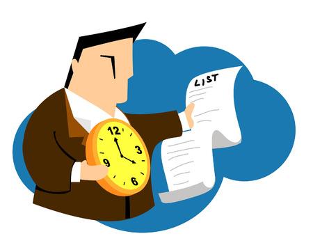 Business Concepts: Deadline Stock Vector - 3130720