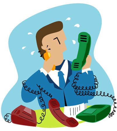 communication metaphor: Business COncepts: Busy Business Calls