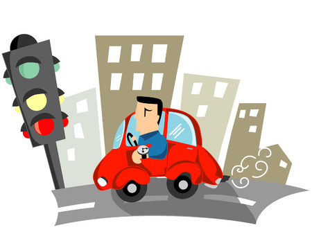 time drive: Business Concepts: Late Illustration