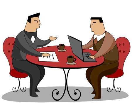 Business Concepts: Business talk Vector