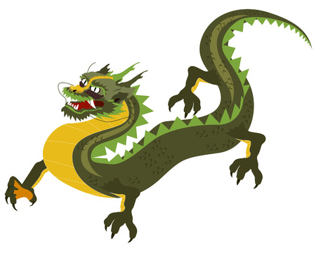 Dragon Illustration with Clipping Path Vector