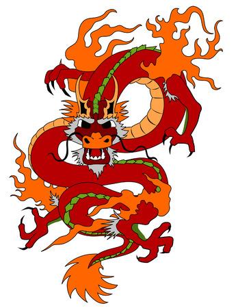 dragones: Dragon Ilustraci�n con la saturaci�n camino