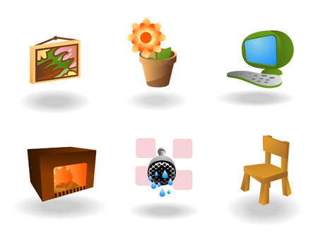 Web Icons (Real Estate) with Clipping Path Stock Vector - 3188793
