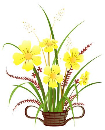 원예: Flowers Illustration with Clipping Path
