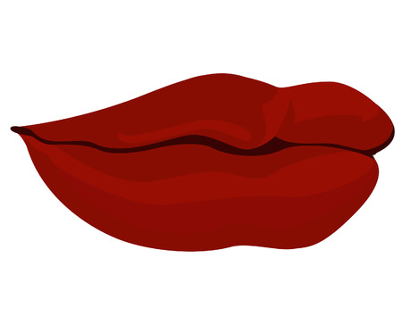 pout: Womans Lips With Clipping Path Illustration