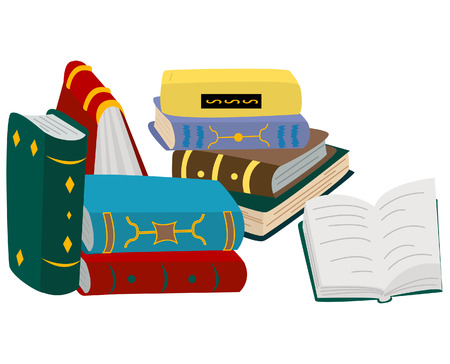 Books Illustration with Clipping Path Vector