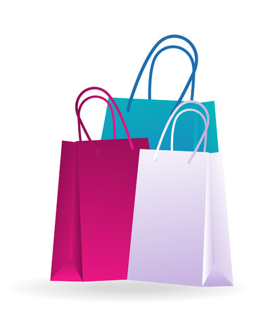 malls: Shopping Bags with Clipping Path Illustration