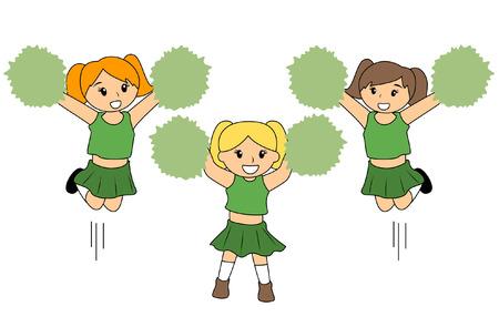 Children Cheerleaders Vector