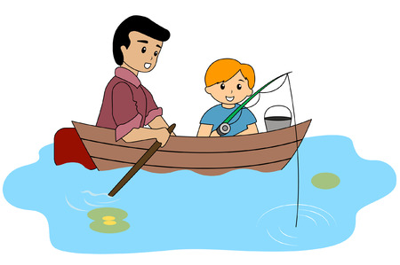 father: Father and Son fishing