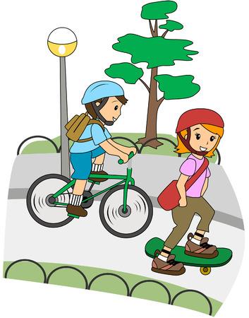 skateboarding: Children at the Park