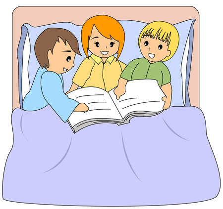 children story: Children Reading Book