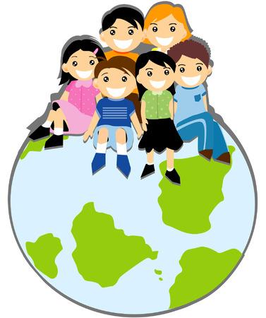 Children on Top  Stock Vector - 3277180
