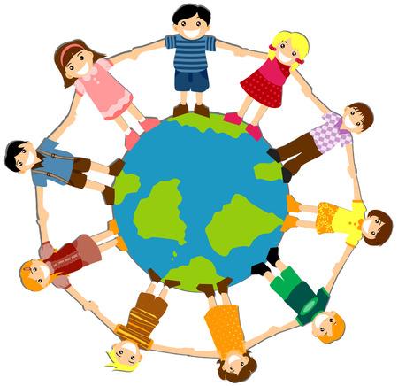 Enfants à travers le monde  Banque d'images - 3277193