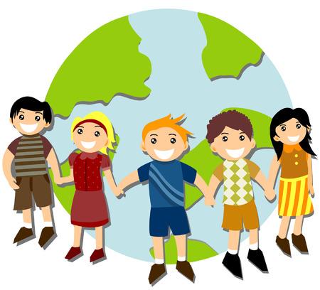 Children around the World Stock Vector - 3277170