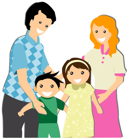 My Family Illustration  Stock Vector - 3277185