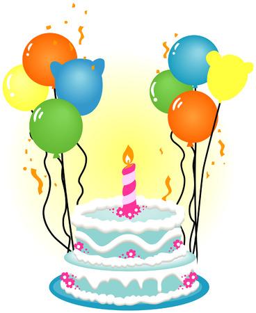 Birthday Cake Illustration Stock Vector - 3277211