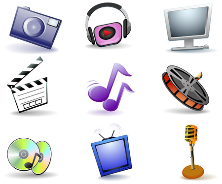 cds: Entertainment Icons with Clipping Path